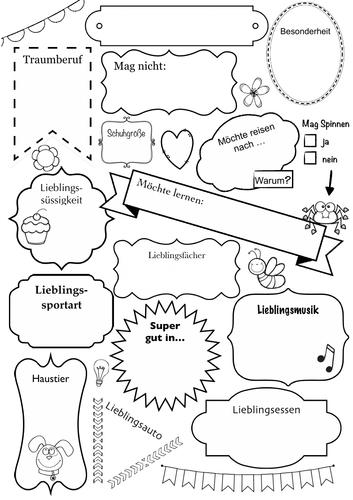 Vorstellungsrunde - Kennenlernen, Interessen sprechen - German, Deutsch, Introducing, Back school