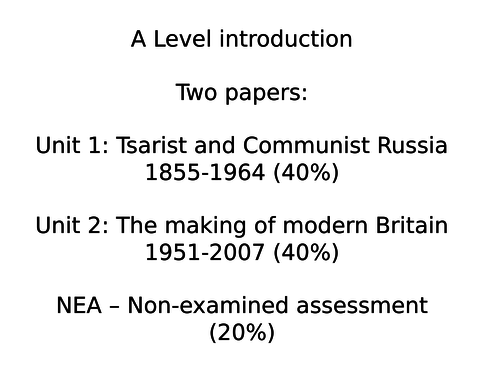 Introduction to AQA Britain 1951-1997