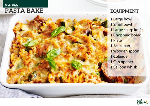Food Technology Pasta Bake Recipe Card
