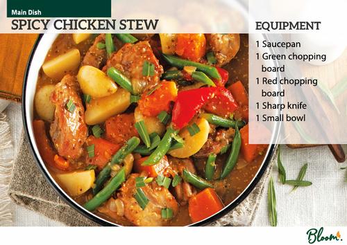 Food Technology Spicy Chicken Stew Recipe Card