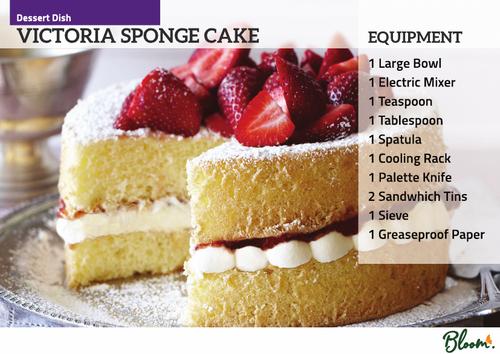 Food Technology Victoria Sponge Cake Recipe Card