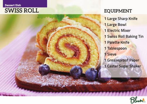 Food Technology Swiss Roll Recipe Card