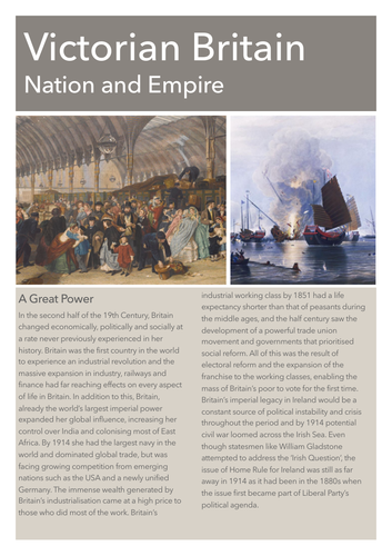 Victorian Britain Introduction Study Notes