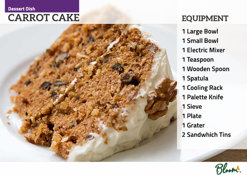 Food Technology Carrot Cake Recipe Card