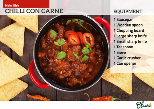 Food Technology Chilli Con Carne Recipe Card