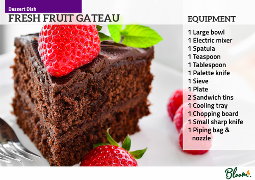 Food Technology Gateau Recipe Card
