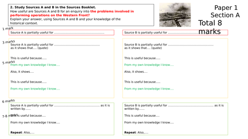 GCSE 9-1 Edexcel History Scaffolded Answers