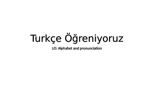 The Turkish alphabet
