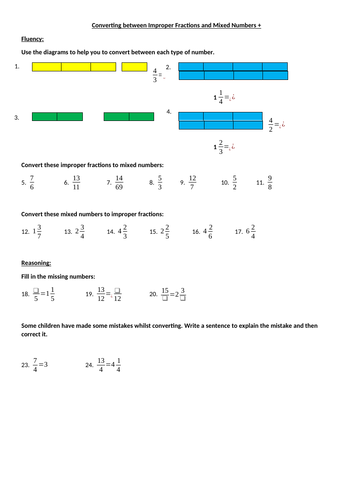 converting improper fractions  mixed numbers activity by mrg  converting improper fractions  mixed numbers activity by mrg   teaching resources  tes
