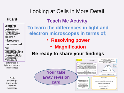 AQA Biology and Trilogy Electron Microscopy and Required Practical NEW 9-1 GCSE