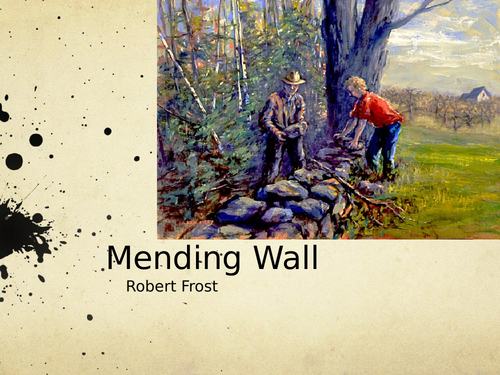 Mending Wall by Robert Frost- Poetry Analysis (A Level)