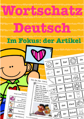 Wortschatz Deutsch, German articles, Artikel - Great for Kids, Basic Vocabulary worksheet and games