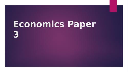 AQA A level Economics paper 3 answering guide