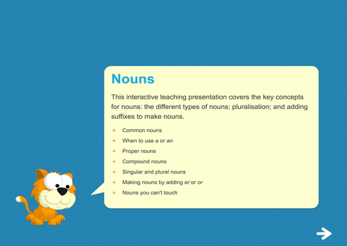 Nouns Teaching Presentation - Year 2 Spag