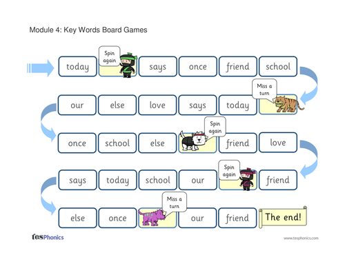 Tricky Words Board Game - Phase 5