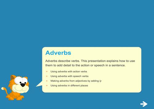 Adverbs Teaching Presentation - Year 2 Spag