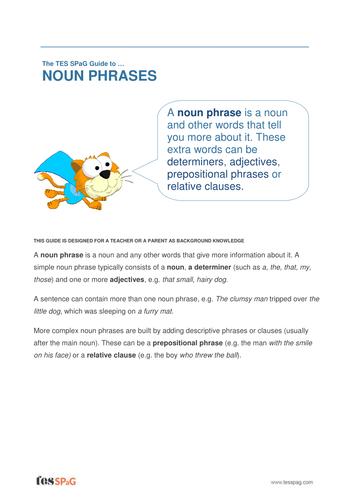 Noun Phrases - Teacher/Parent Spag Guide
