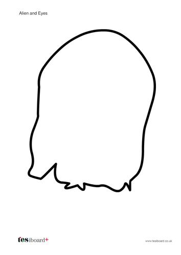Blank Alien Visual Aid - KS1 Number