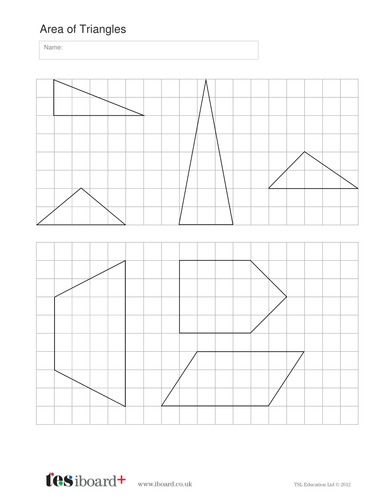 Area of Triangles Worksheet - KS2 Measurement