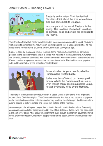 About Easter Information Book - Reading Level B - Easter KS1/KS2