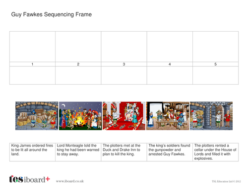 Sequencing Frame Worksheet - Guy Fawkes KS2