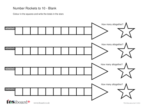Addition to 10 Worksheet - Number Rockets - Bonfire Night KS1
