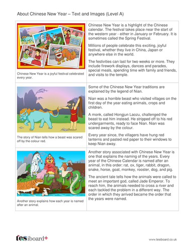 Chinese New Year Information Book - Reading Level B -  Chinese New Year KS1