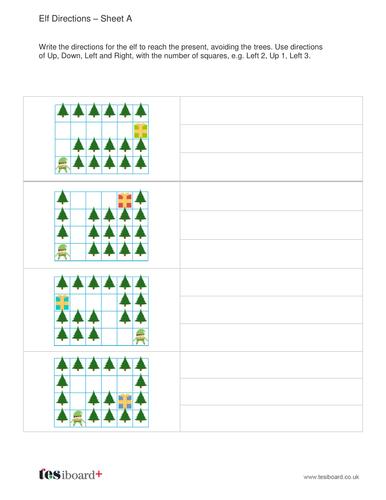 Elf Directions Worksheet - Christmas KS2