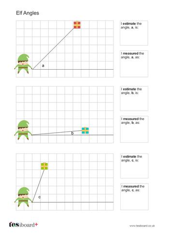 Elf Angles Worksheet - Christmas KS2