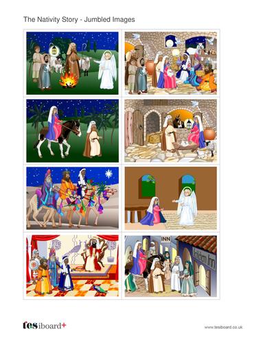 Scene Sequencing Activity - The Nativity - Christmas KS1