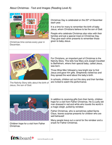 About Christmas Information Book - Reading Level A - Christmas KS1