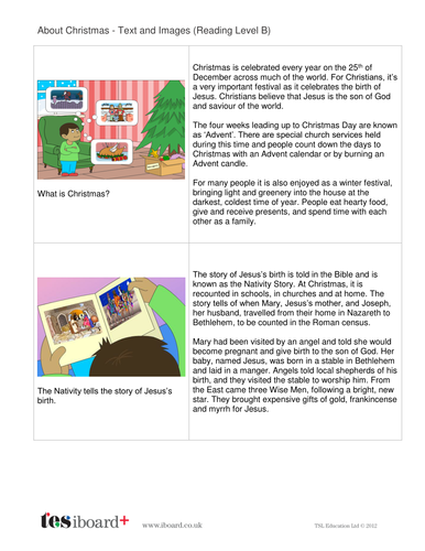 About Christmas Information Book - Reading Level B - Christmas KS2