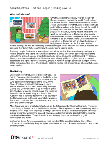 About Christmas Information Book - Reading Level C - Christmas KS2