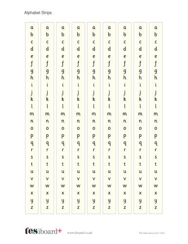 Alphabet Strips - Literacy KS1