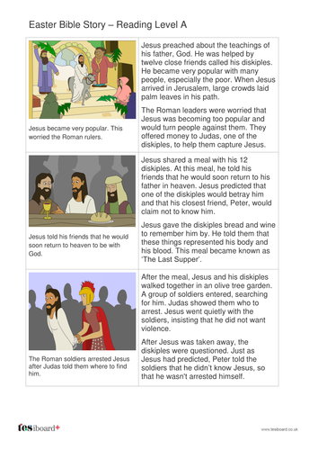 The Easter Story Storybook - Reading Level A -  Easter KS1/KS2