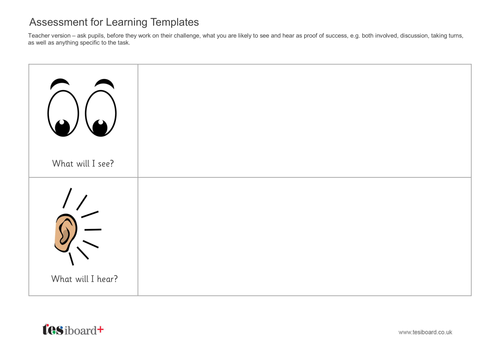Assessment for Learning Template - Literacy KS1