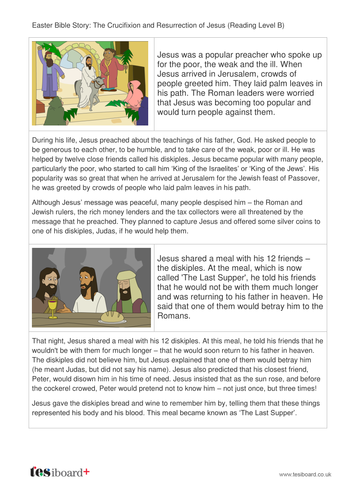 The Easter Story Storybook - Reading Level B -  Easter KS1/KS2