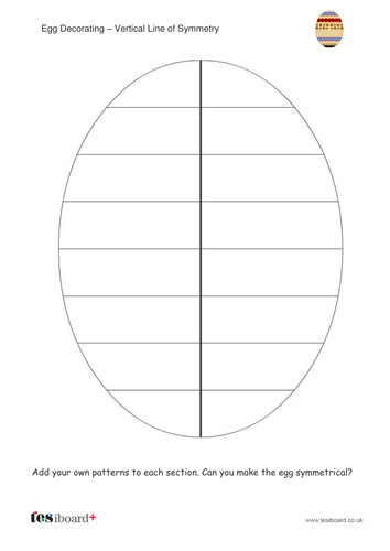 Egg Decorating Symmetry Worksheet - Easter KS1