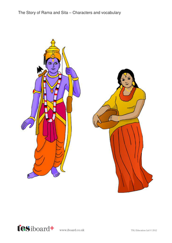 Rama and Sita Characters and Vocabulary - Diwali KS1