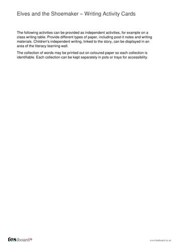 Writing Activity Worksheets and Ideas - Christmas KS1