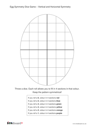Easter Egg Patterns - Dice Game - Easter KS1