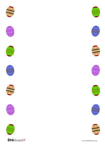 Easter Themed Paper / Writing Template - Easter KS1