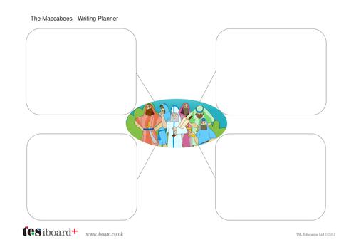 The Maccabees Writing Planner Worksheet - Hanukkah KS1