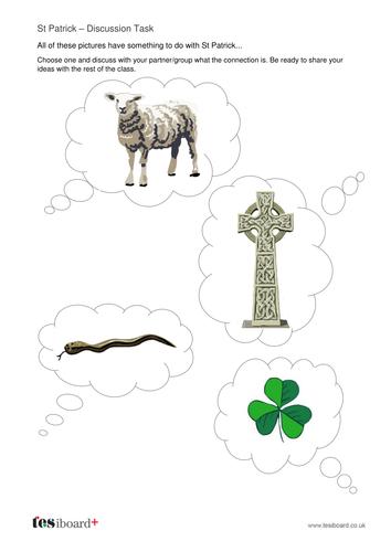 St Patrick Discussion Activity -  St Patrick's Day KS1
