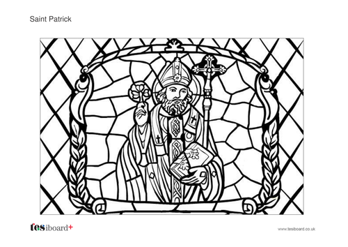 St Patrick Colouring Sheet -  St Patrick's Day KS1