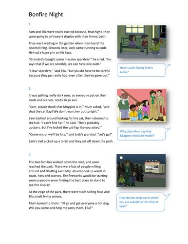 Bonfire Night Storybook - Independent Reader Level - Bonfire Night KS1