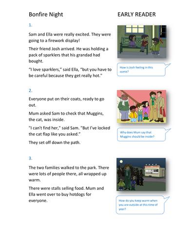 Bonfire Night Storybook - Early Reader Level - Bonfire Night KS1