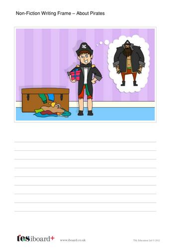 About Pirates Writing Frame Worksheet - KS1 Literacy