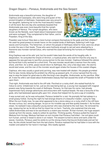 Persues, Andromeda and the Sea Serpent - Information Sheet - KS2 Literacy