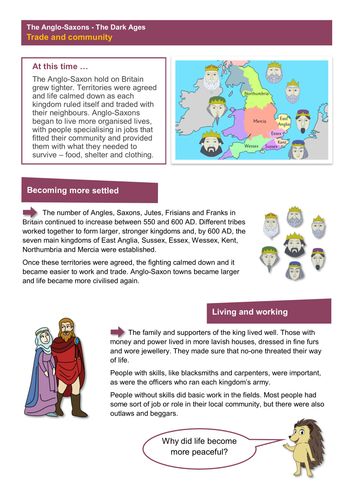 trade and community worksheet anglo saxon britain ks2 by tes elements teaching resources. Black Bedroom Furniture Sets. Home Design Ideas